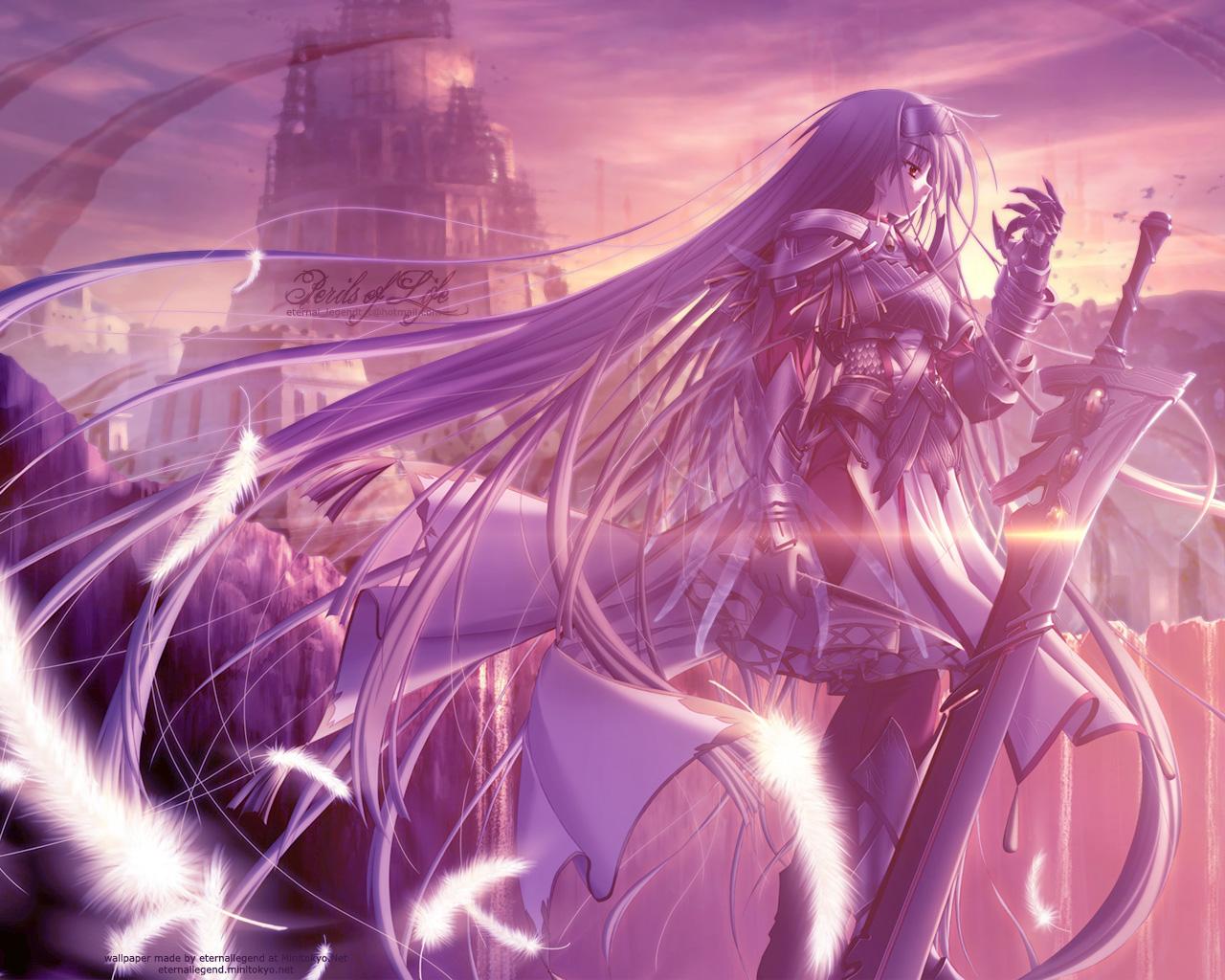 Blade wielding girl anime wallpaper pack randomness thing - Girl with sword wallpaper ...