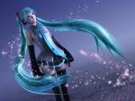 Konachan.com - 49112 3d green_eyes green_hair hatsune_miku headphones long_hair necktie thighhighs twintails vocaloid