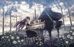 Konachan.com - 49447 megurine_luka piano vocaloid