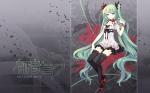 Konachan.com - 49617 hatsune_miku tearfish thighhighs vocaloid world_is_mine