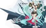 Konachan.com - 49751 aqua_hair blue_eyes hatsune_miku headphones heart long_hair skirt tansuke thighhighs twintails vocaloid