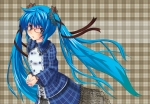 Konachan.com - 50913 blush glasses hatsune_miku nekonaka vocaloid