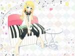 Konachan.com - 52151 headphones ipod kagamine_rin vocaloid white