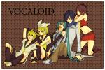 Konachan.com - 52159 hatsune_miku kagamine_len kagamine_rin kaito meiko todoroki_sora vocaloid