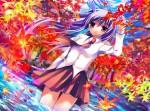 Konachan.com - 56307 long_hair purple_hair reisen_udongein_inaba seifuku skirt touhou