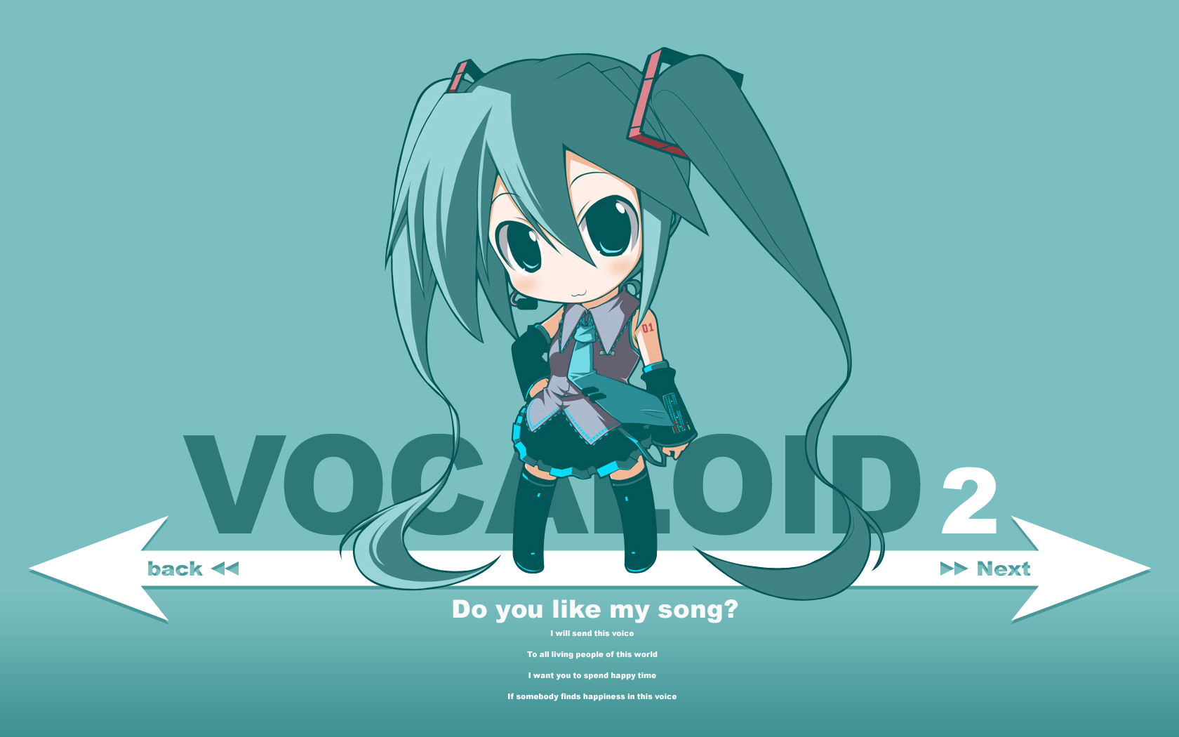 Vocaloid Wallpaper Pack 3 | Randomness Thing Hatsune Miku Chibi Wallpaper