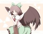 Konachan.com - 56700 blush brown_hair long_hair reiuji_utsuho smile touhou wings