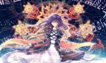 Konachan.com - 57125 dress flowers hijiri_byakuren long_hair purple_hair touhou