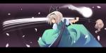 Konachan.com - 57349 blood konpaku_youmu short_hair sword touhou white_hair