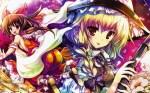Konachan.com - 58095 hakurei_reimu kirisame_marisa sideboob touhou