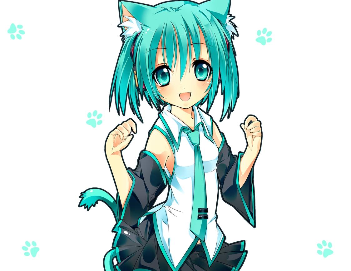 Miku Cat Ears Cosplay