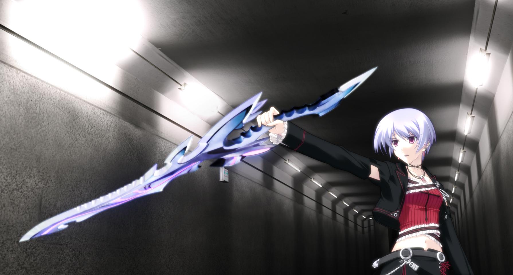 Anyone interested in making an RP revolving around The Dark Bloodline years into the future? Konachan-com-55049-blue_hair-chaoshead-kishimoto_ayase-short_hair-sword