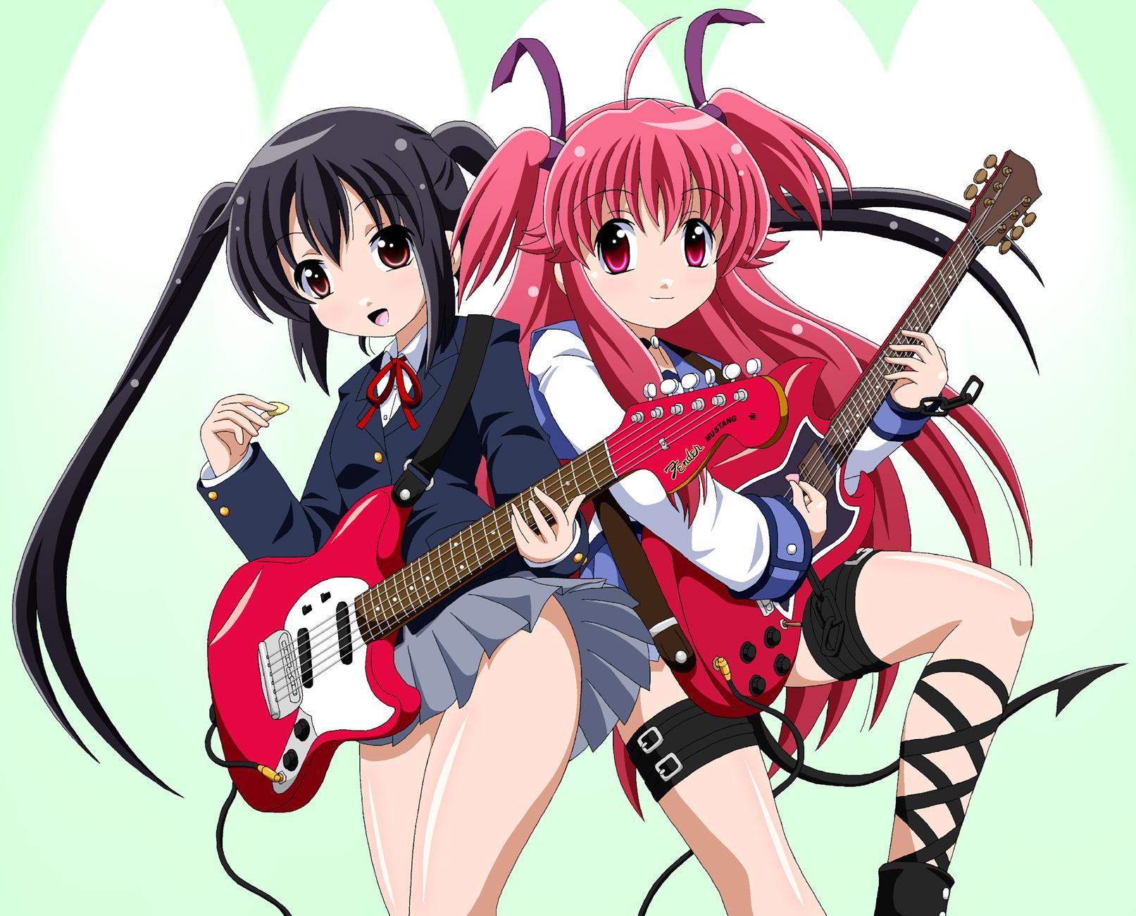 angel beats-crossover-fai-guitar-instrument-k-on-nakano azusa-tail-yui    K On Yui Guitar