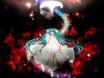 Konachan.com - 77142 haru_aki hatsune_miku rose vocaloid