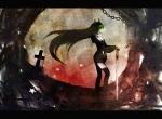Konachan.com - 78106 black_devil_girl black_rock_shooter horns sword weapon