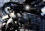 Konachan.com - 78267 black_gold_saw black_rock_shooter gun kuroi_mato takanashi_yomi weapon