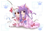 Konachan.com - 79502 animal_ears catgirl patchouli_knowledge remilia_scarlet tail touhou