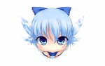 Konachan.com - 79749 blue_eyes blue_hair blush bow cirno close short_hair touhou white wings