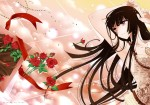 Konachan.com - 80359 flowers houraisan_kaguya jpeg_artifacts long_hair rose touhou