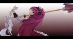 Konachan.com - 96747 kasumi_(pluvieux_tigre) kyuubee mahou_shoujo_madoka_magica red_eyes sakura_kyouko weapon