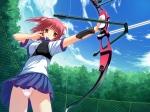 Konachan.com - 97265 bow game_cg himegami_nanase panties pink_hair seifuku skirt soushinjutsu_rei underwear