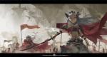 Konachan.com - 97632 cape jong_tu pink_eyes pixiv_fantasia sword weapon