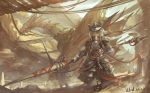 Konachan.com - 98272 alcd animal_ears armor dragon pixiv_fantasia weapon