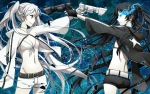 Konachan.com - 100131 black_rock_shooter kuroi_mato weapon white_rock_shooter yunco