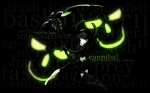 Konachan.com - 106133 black black_hair black_rock_shooter green green_eyes scythe takanashi_yomi weapon