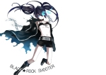 Konachan.com - 108441 bikini_top black_rock_shooter blue_eyes boots kuroi_mato photoshop scar twintails white