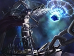 Konachan.com - 71239 black_rock_shooter black_rock_shooter_(character) gun scar sword