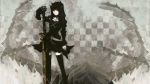Konachan.com - 77816 black_rock_shooter dragon_slayer sword weapon yellow_eyes