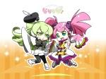 Konachan.com - 79155 caffein green_hair pink_hair tagme vocaloid