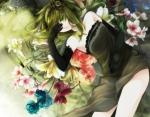 Konachan.com - 79880 dress flowers gloves green_eyes green_hair gumi vocaloid
