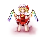 Konachan.com - 80446 blonde_hair fang flandre_scarlet red_eyes touhou vampire white wings