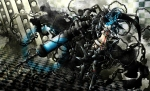 Konachan.com - 80608 black_hair black_rock_shooter blue_eyes kuroi_mato tagme weapon