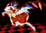 Konachan.com - 80637 blonde_hair dress flandre_scarlet hat red_eyes touhou vampire wings