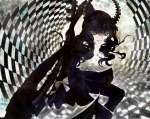 Konachan.com - 87253 black_hair black_rock_shooter green_eyes horns scythe takanashi_yomi weapon