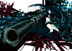 Konachan.com - 90282 black_rock_shooter chain gun kuroi_mato weapon