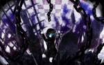 Konachan.com - 90382 black_hair black_rock_shooter blue_eyes chain saki seifuku short_hair tagme