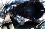 Konachan.com - 96660 a.q.u.a black_rock_shooter gun kuroi_mato scar twintails weapon