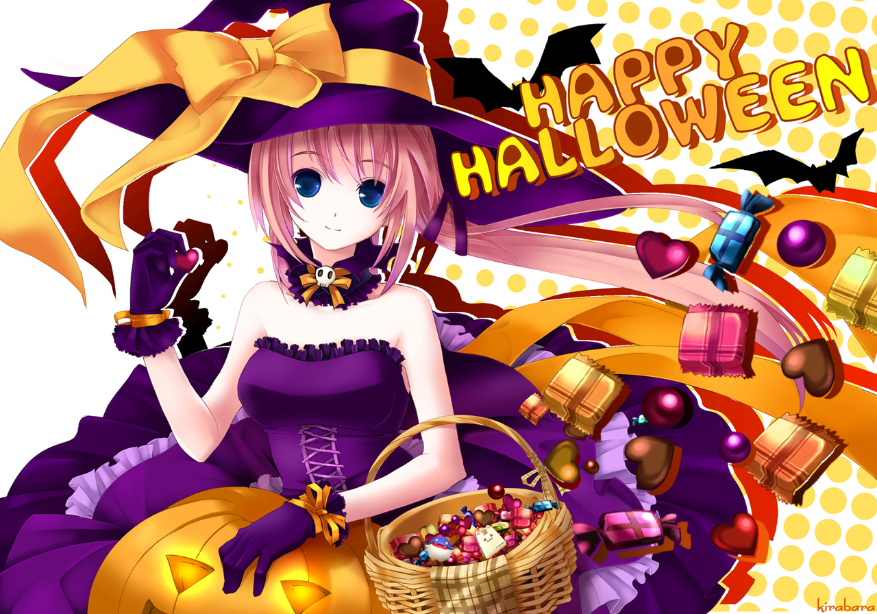Anime Characters For Halloween : Konachan halloween hana pangya randomness thing