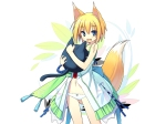 Konachan.com - 79232 animal_ears blonde_hair blue_eyes cat dress foxgirl panties poco ribbons underwear