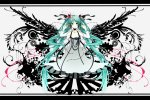 Konachan.com - 80509 dress hatsune_miku jpeg_artifacts long_hair ribbons twintails vocaloid white wings