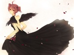 Konachan.com - 80544 dress kasane_teto petals red_eyes red_hair vocaloid wings