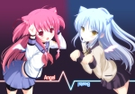 Konachan.com - 81272 angel_beats! animal_ears catgirl tachibana_kanade tagme tenshi wings yui_(angel_beats!)