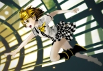 Konachan.com - 81528 blonde_hair boots kagamine_rin vocaloid yellow_eyes