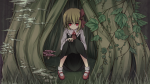 Konachan.com - 82048 dress mokubanoe red_eyes rumia touhou tree