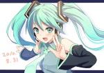 Konachan.com - 82636 hatsune_miku hyakuen_raitaa jpeg_artifacts twintails vocaloid white