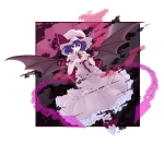Konachan.com - 84389 chain dress hat moon red_eyes remilia_scarlet touhou white wings